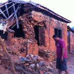 House after earthquake